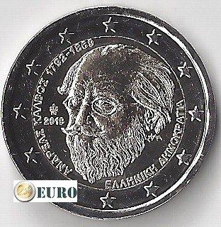 2 euro Greece 2019 - Andreas Kalvos UNC