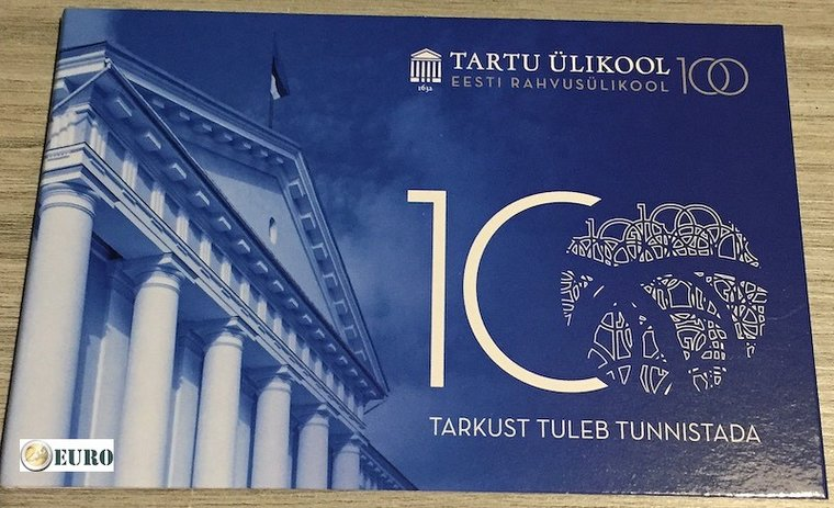 2 euro Estonia 2019 - University of Tartu BU FDC Coincard