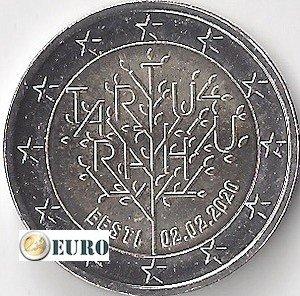 2 euro Estonia 2020 - Treaty of Tartu UNC