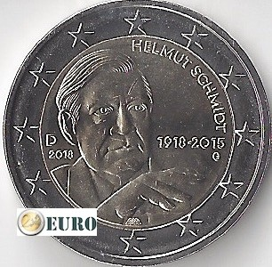 2 euro Germany 2018 - G Helmut Schmidt UNC