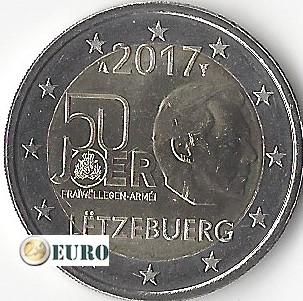 2 euro Luxembourg 2017 - Voluntary Military Service UNC