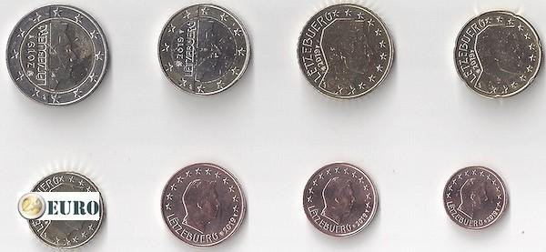 Euro set UNC Luxembourg 2019