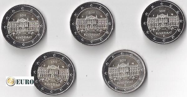 2 euro Germany 2019 - ADFGJ Bundesrat UNC