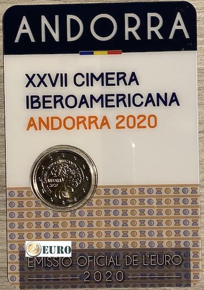 2 euro Andorra 2020 - Ibero-American summit BU FDC Coincard