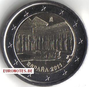 Spain 2011 - 2 euro Court of the Lions UNESCO UNC