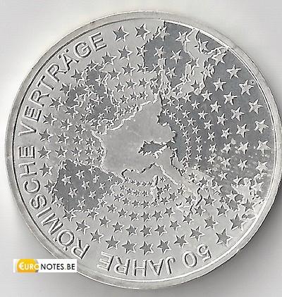 Germany 2007 - 10 euro F 50 years Treaty of Rome ToR BU FDC