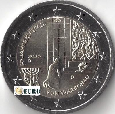 2 euro Germany 2020 - D Warsaw Genuflection UNC