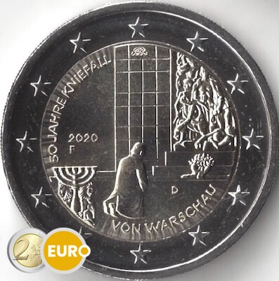2 euro Germany 2020 - F Warsaw Genuflection UNC