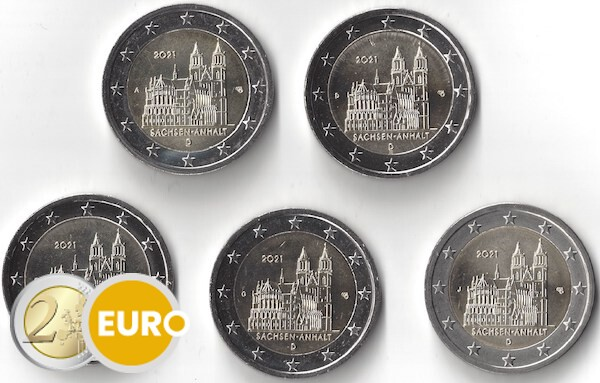 2 euro Germany 2021 - ADFGJ Saxony-Anhalt UNC