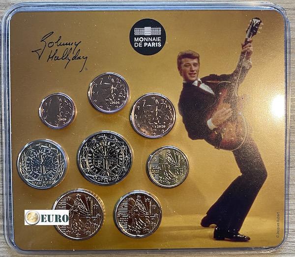 Euro miniset BU FDC France 2020 Johnny Hallyday vintage guitar