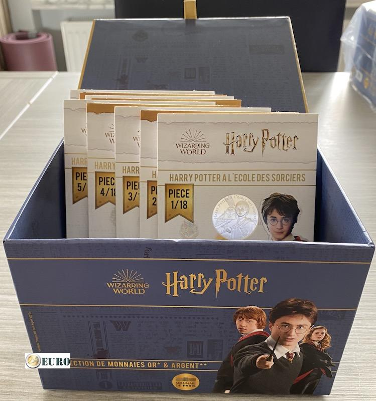 9 x 10 euro France 2021 - Harry Potter UNC Silver in blister - wave 1 + collector box