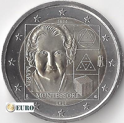 2 euro Italy 2020 - 150 years Maria Montessori UNC
