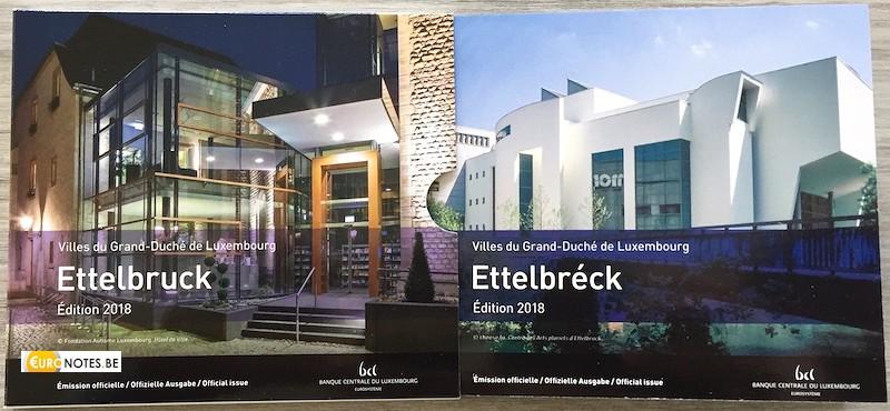 Luxembourg 2018 - euro set BU FDC Ettelbruck