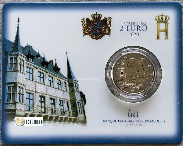 2 euro Luxembourg 2020 - Birth of Charles of Luxembourg BU FDC Coincard