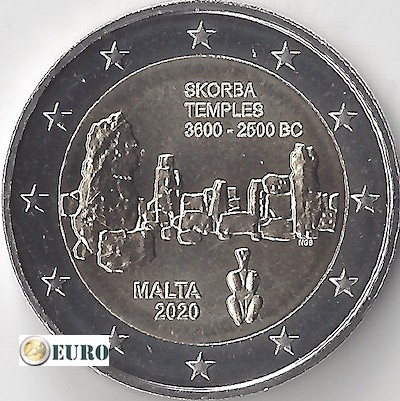2 euro Malta 2020 - Skorba Temple UNC