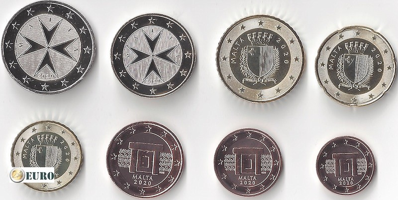 Euro set UNC Malta 2020