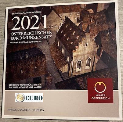 Euro set BU FDC Austria 2021 - Schlom