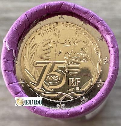 Roll 2 euro France 2021 - 75 years UNICEF