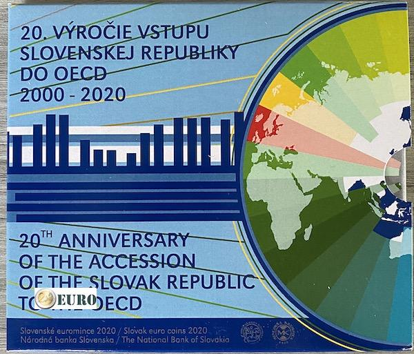 Euro set BU FDC Slovakia 2020 - Accession to the OECD