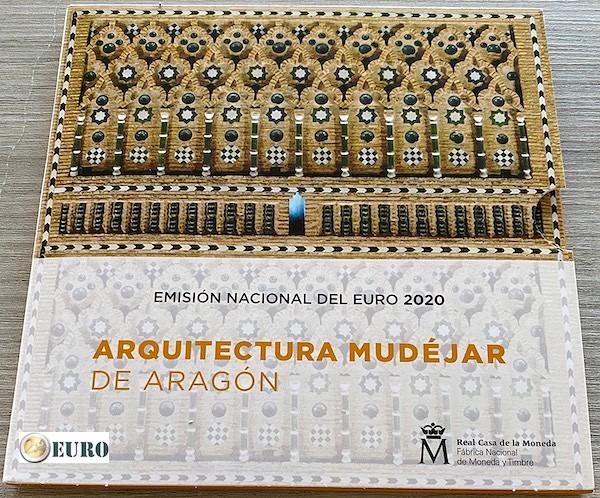 Euro set BU FDC Spain 2020 + 2 euro Aragon