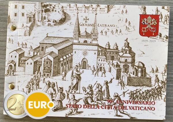 2 euro Vatican 2019 - 90 years Vatican City BU FDC Numisletter