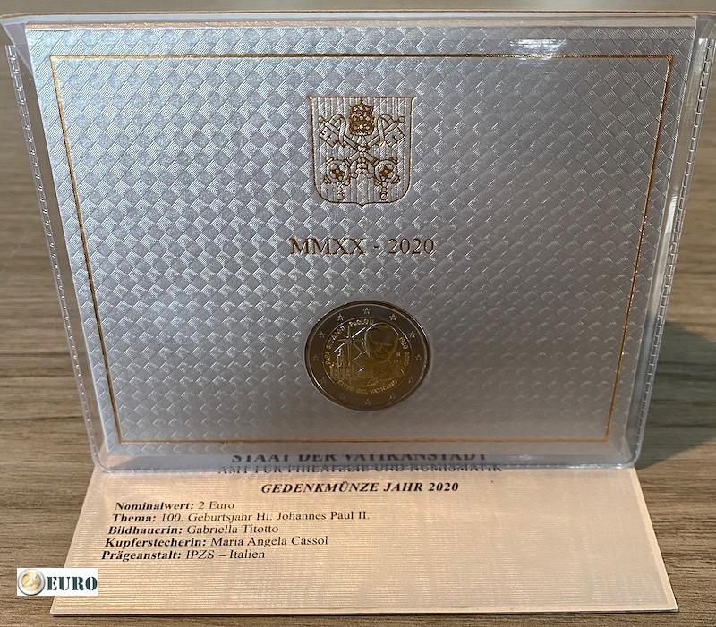 2 euro Vatican 2020 - 100 years Pope John Paul II BU FDC