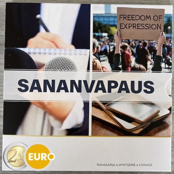 Euro set BU FDC Finland 2021 Freedom of speech