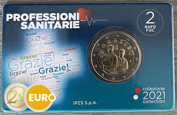 2 euro Italy 2021 - Grazie Health care BU FDC Coincard