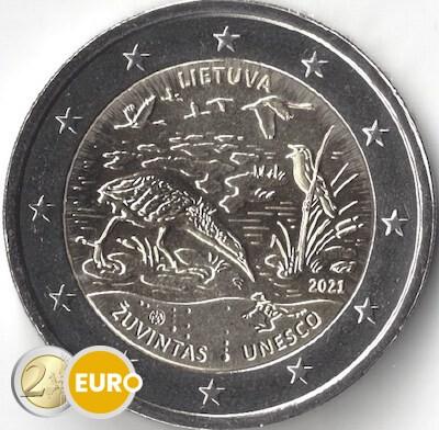 2 euro Lithuania 2021 - Biosphere Reserve Zuvintas UNC