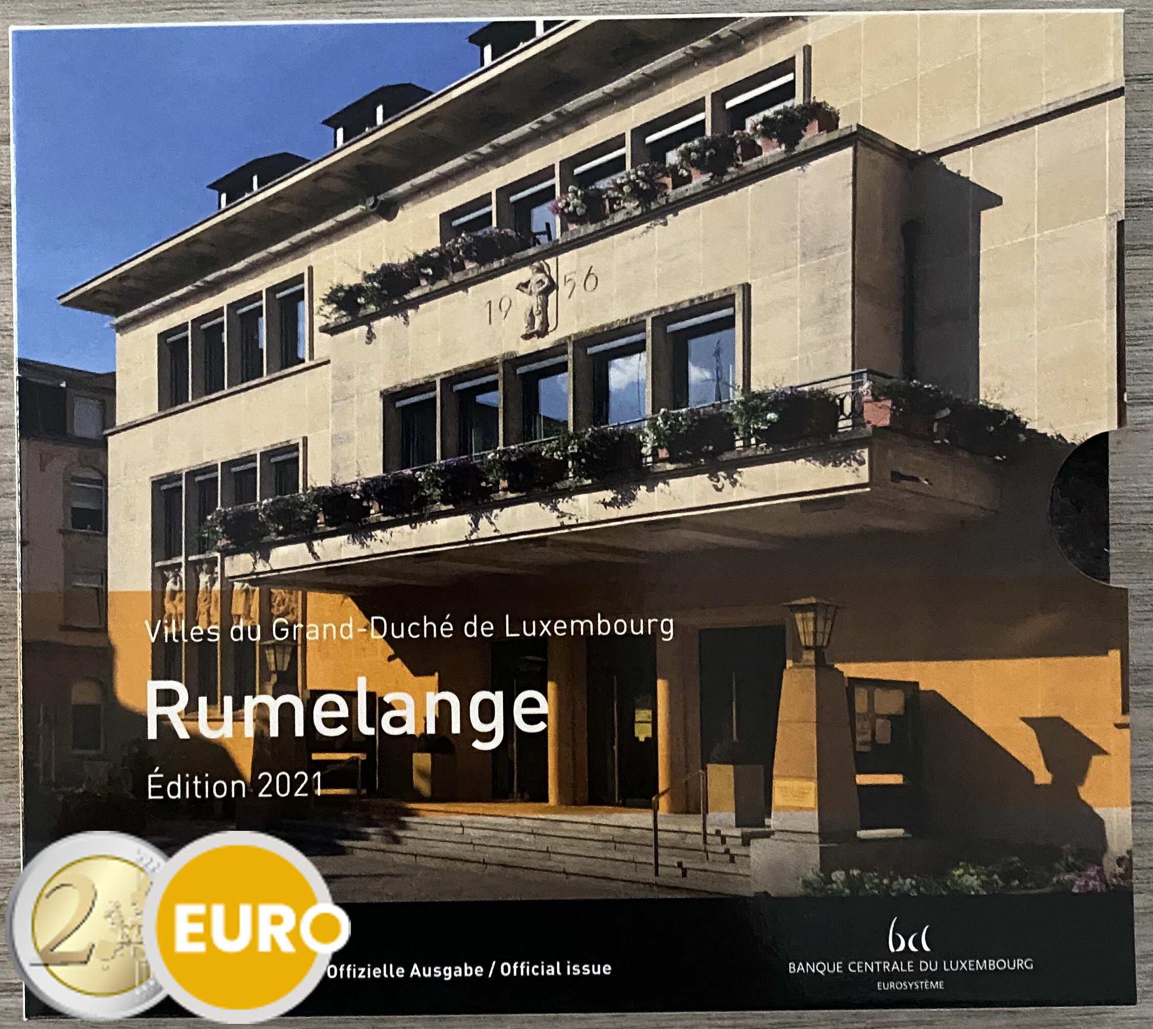Euro set BU FDC Luxembourg 2021 Rumelange + 2 euro wedding Henry photo