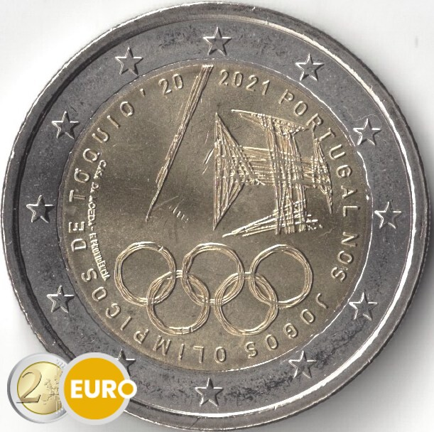 2 euro Portugal 2021 - Olympic Games UNC