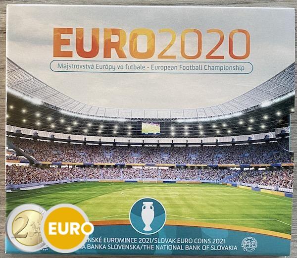 Euro set BU FDC Slovakia 2021 - EURO 2020 football