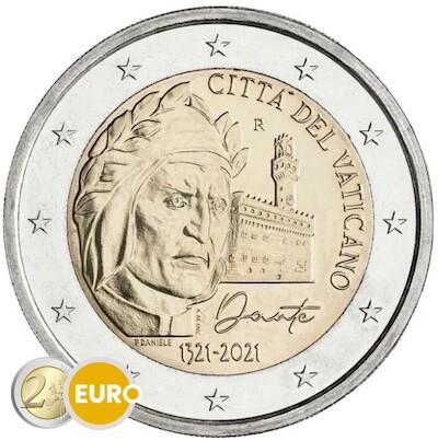 2 euro Vatican 2021 - Dante Alighieri BU FDC