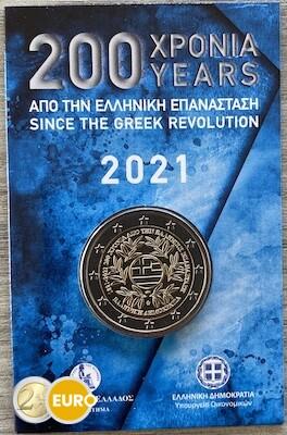 2 euro Greece 2021 - Greek Revolution BU FDC Coincard