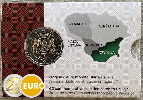 2 euro Lithuania 2021 - Dzukija BU FDC Coincard