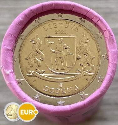 Roll 2 euro Lithuania 2021 - Aukstaitija Dzukija