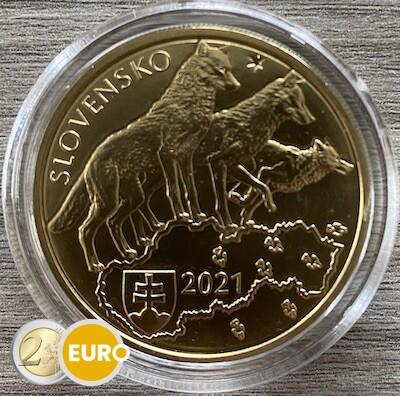 5 euro Slovakia 2021 - Wolf UNC