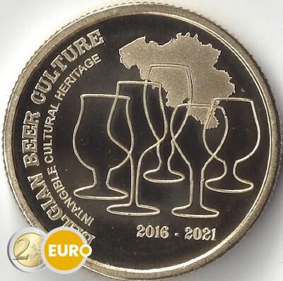 2,50 euro Belgium 2021 - Beer culture 5 years heritage UNC
