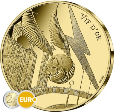 250 euro France 2021 - Harry Potter Golden Snitch BE Proof Gold