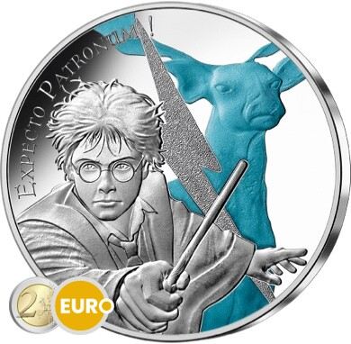 50 euro France 2021 - Harry Potter Expecto Patronum BE Proof Silver Coloured