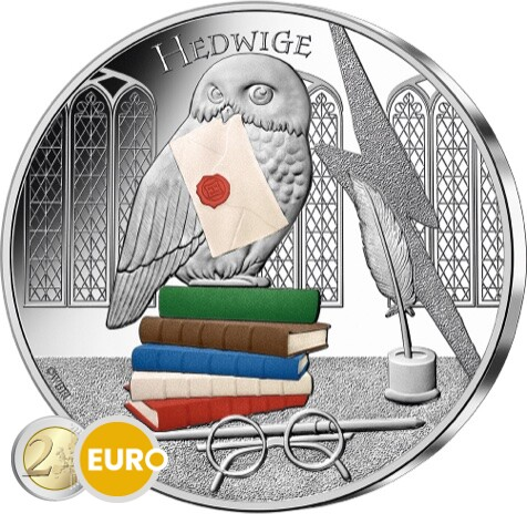 50 euro France 2021 - Harry Potter Hedwig BE Proof Silver Coloured