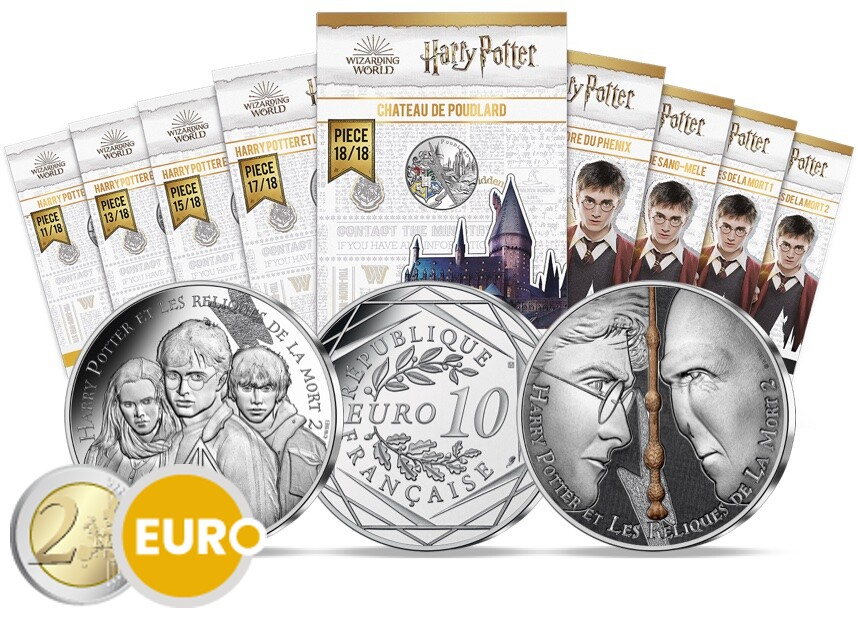 9 x 10 euro France 2021 - Harry Potter UNC Silver in blister - wave 2