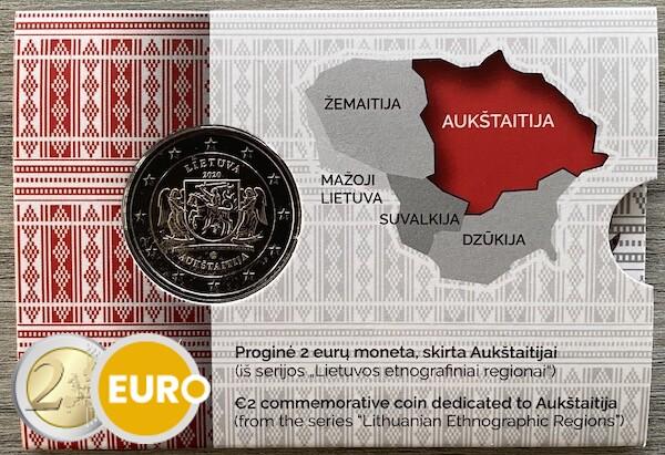 2 euro Lithuania 2020 - Aukstaitija Region BU FDC Coincard
