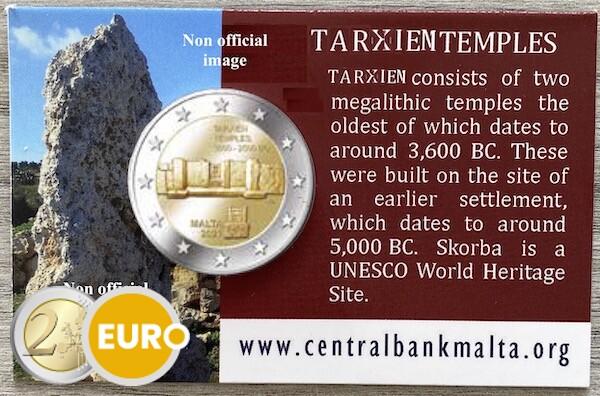 2 euro Malta 2021 - Tarxien Temple BU FDC Coincard MdP Mintmark